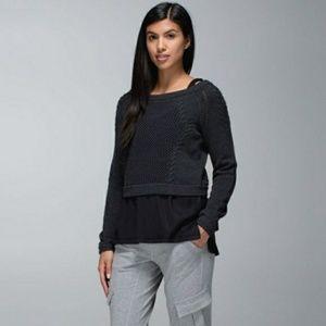 Lululemon | Cropped Be Present Pullover- Black